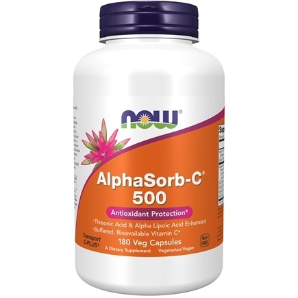 DROPPED: NOW Foods - AlphaSorb C 500 Antioxidant Protection - 180 Vegetarian Capsules