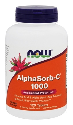 DROPPED: NOW Foods - AlphaSorb C 1000 Antioxidant Protection - 120 Tablets