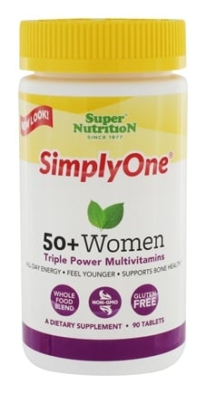 Super Nutrition - Simply One 50+ Women Power Vitamins - 90 Vegetarian Tablets