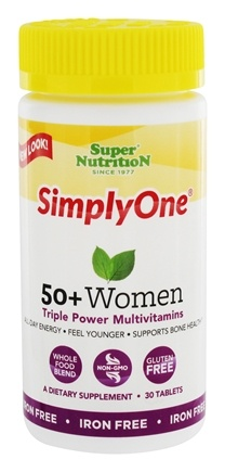 Zoom View - Simply One 50+ Women Power Vitamins Iron Free
