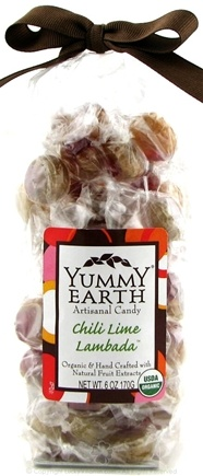 DROPPED: Yummy Earth - Organic Artisanal Candy Gluten Free Chili Lime Lambada - 6 oz.