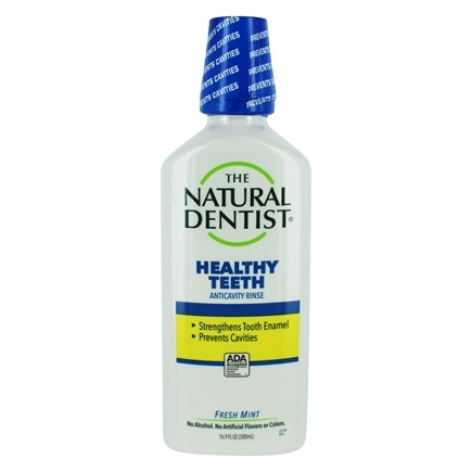 Natural Dentist - Healthy Teeth Fluoride Rinse Fresh Mint - 16.9 oz.