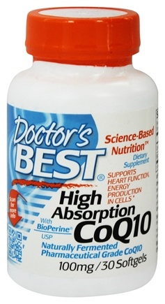 DROPPED: Doctor's Best - High Absorption CoQ10 100 mg. - 30 Softgels