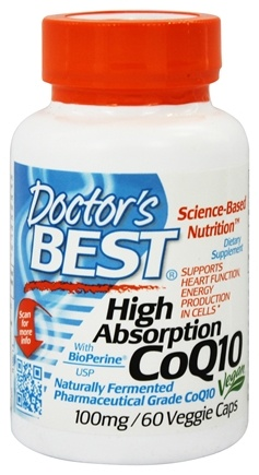 DROPPED: Doctor's Best - High Absorption CoQ10 100 mg. - 60 Vegetarian Capsules