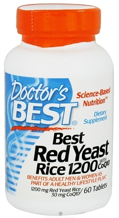 DROPPED: Doctor's Best - Best Red Yeast Rice with CoQ10 1200 mg. - 60 Tablets