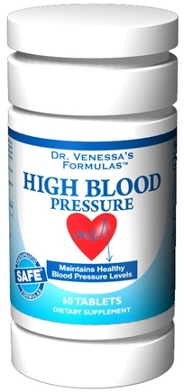 DROPPED: Dr. Venessa's Formulas - High Blood Pressure Support - 60 Tablets CLEARANCE PRICED