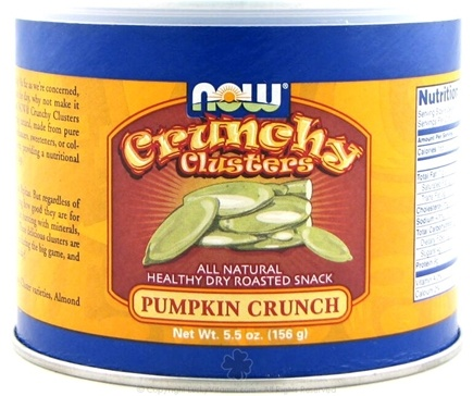 DROPPED: NOW Foods - Crunchy Clusters Pumpkin Crunch - 5.5 oz.