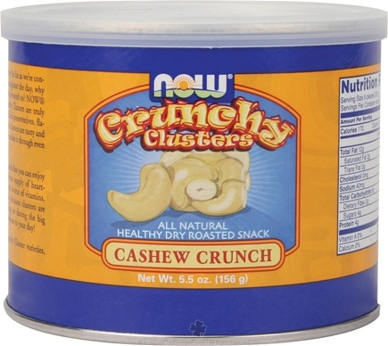 DROPPED: NOW Foods - Crunchy Clusters Cashew Crunch - 5.5 oz.