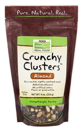 DROPPED: NOW Foods - Crunchy Clusters Almond Dry Roasted - 9 oz.
