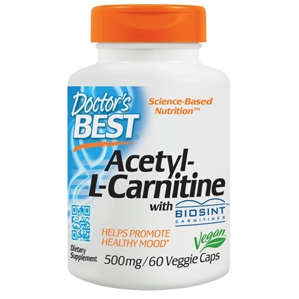 Doctor's Best - Best Acetyl-L-Carnitine Featuring Sigma Tau Carnitine 588 mg. - 60 Capsules