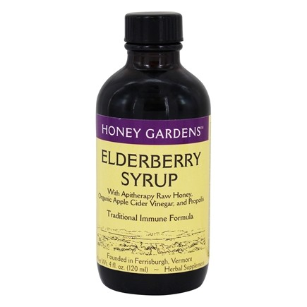 DROPPED: Honey Gardens Apiaries - Organic Honey Elderberry Extract - 4 oz. CLEARANCE PRICED