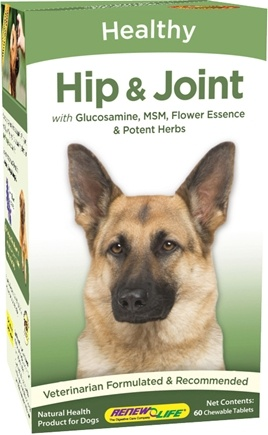 DROPPED: ReNew Life - Healthy Joints for Dogs - 60 Chewable Tablets