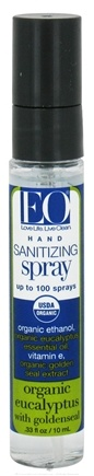 DROPPED: EO Products - Hand Sanitizing Spray Travel Size Organic Eucalyptus - 0.33 oz. CLEARANCE PRICED