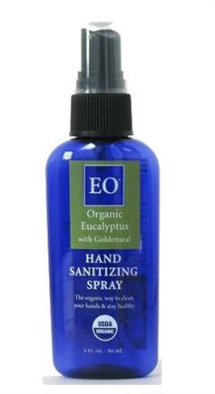DROPPED: EO Products - Hand Sanitizing Spray Organic Eucalyptus with Goldenseal - 2 oz.