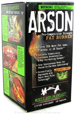 Zoom View - Arson Pro-Competition Strength Fat Burner