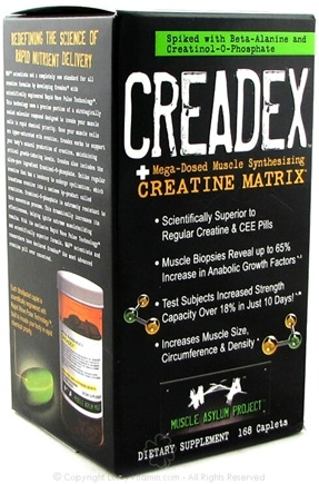 DROPPED: Muscle Asylum Project - Creadex Creatine Matrix - 168 Capsules