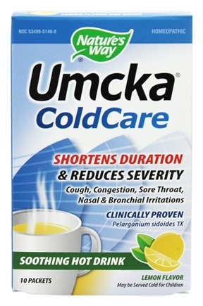 Nature's Way - Umcka Cold Care Soothing Hot Drink Lemon - 10 Packet(s)