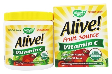 DROPPED: Nature's Way - Alive Vitamin C 100% Whole Food Complex - 120 Grams