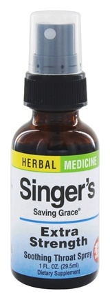 Herbs Etc - Singer's Saving Grace Soothing Throat Spray Extra Strength - 1 oz.