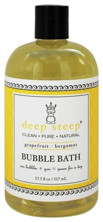 DROPPED: Deep Steep - Bubble Bath Grapefruit Bergamot - 17.5 oz.
