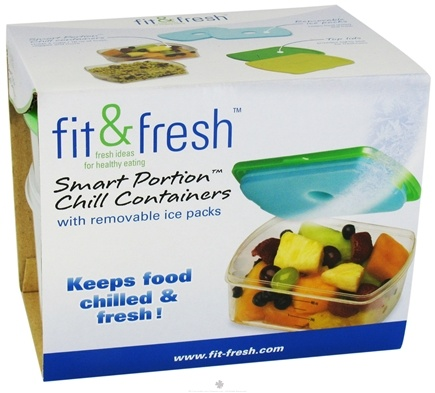 DROPPED: Fit & Fresh - Smart Portion 2 Cup Chill Containers - 2 Pack(s) CLEARANCE PRICED
