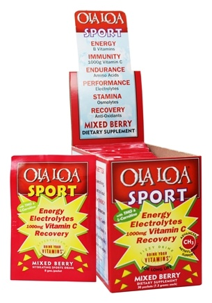 DROPPED: Ola Loa - Sport Effervescent Vitamin Drink Mixed Berry - 30 x 8g Packets
