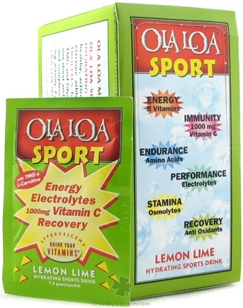 DROPPED: Ola Loa - Sport Effervescent Vitamin Drink Lemon Lime - 30 Packet(s)