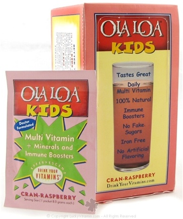 DROPPED: Ola Loa - Kids Multi Vitamin Effervescent Drink Cran-Raspberry - 30 Packet(s) CLEARANCE PRICED