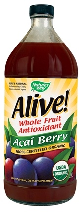 DROPPED: Nature's Way - Alive Organic Acai Berry Juice - 32 oz. CLEARANCE PRICED