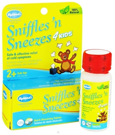 DROPPED: Hylands - Sniffles N' Sneezes 4 Kids - 125 Tablets