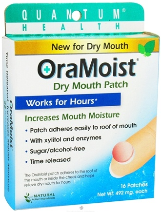 DROPPED: Quantum Health - OraMoist Dry Mouth Patch Natural Fruit Flavor - 16 Tablets