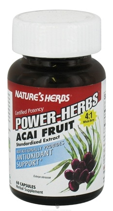 Zoom View - Power-Herbs Acai Fruit Antioxidant Support