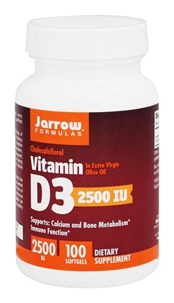 Jarrow Formulas - Vitamin D3 2500 IU - 100 Softgels
