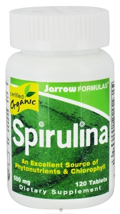 DROPPED: Jarrow Formulas - Spirulina Certified Organic 500 mg. - 120 Tablets CLEARANCE PRICED
