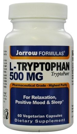 DROPPED: Jarrow Formulas - L-Tryptophan 500 mg. - 60 Vegetarian Capsules CLEARANCE PRICED