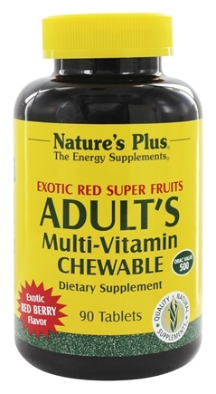 Nature's Plus - Adult's Multi-Vitamin Exotic Red Berry - 90 Chewable Tablets
