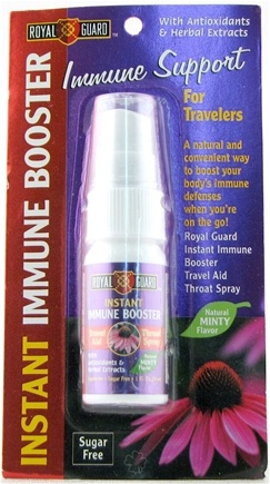 DROPPED: Nature's Plus - Royal Guard Instant Immune Booster Travel Aid Throat Spary Mint - 1 oz.