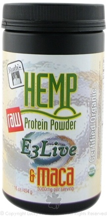 DROPPED: Ruth's Hemp Foods - Raw Protein Powder E3Live & Maca - 16 oz.