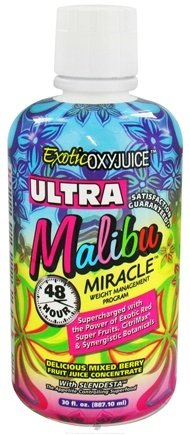 DROPPED: Nature's Plus - Exotic OXYJUICE Ultra Malibu Miracle 48 Hour Weight Management Program Mixed Berry Fruit - 30 oz. CLEARANCE PRICED