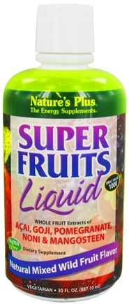 DROPPED: Nature's Plus - Super Fruits Liquid Mixed Wild Fruit - 30 oz.