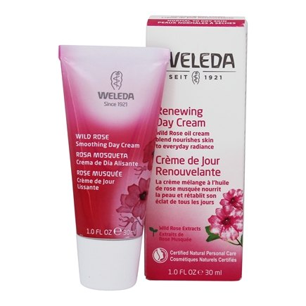Weleda - Wild Rose Smoothing Day Cream For Dry Skin - 30ml/1oz Aquanil Cleanser Gentle Soapless Lipid-Free for Sensitive Skin 16oz Each