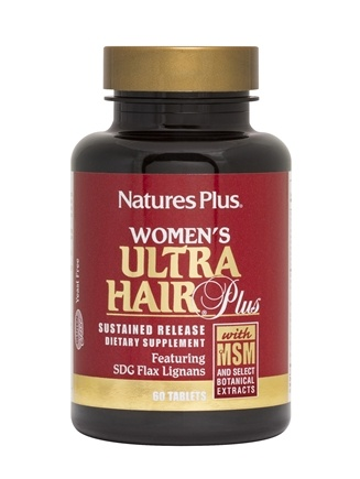 Nature's Plus - Women's Ultra Hair Plus with MSM Sustained Release Tablets - 60 Tablets