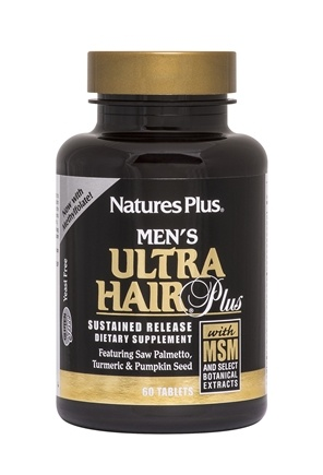 Nature's Plus - Men's Ultra Hair Plus with MSM Sustained Release Tablets - 60 Tablets