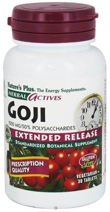 DROPPED: Nature's Plus - Herbal Actives Extended Release Goji 1000 mg. - 30 Vegetarian Tablets
