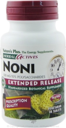 DROPPED: Nature's Plus - Herbal Actives Extended Release Noni 500 mg. - 30 Tablets CLEARANCE PRICED