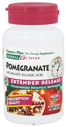 DROPPED: Nature's Plus - Herbal Actives Extended Release Pomegranate 400 mg. - 30 Vegetarian Tablets CLEARANCED PRICED