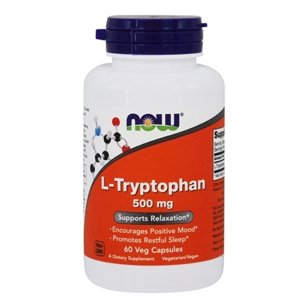 NOW Foods - L-Tryptophan 500 mg. - 60 Vegetarian Capsules