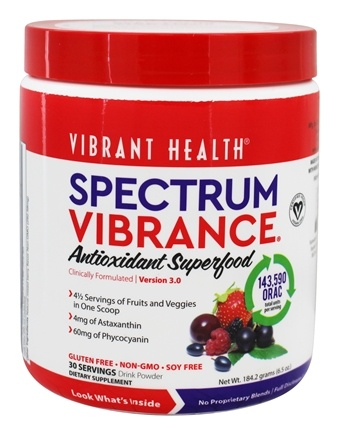 Vibrant Health - Rainbow Vibrance Superfood Version 2.0 - 6.24 oz.