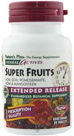 DROPPED: Nature's Plus - Herbal Actives Extended Release Super Fruits - 30 Vegetarian Tablets CLEARANCE PRICED