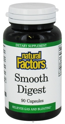 DROPPED: Natural Factors - Smooth Digest - 90 Capsules CLEARANCE PRICED